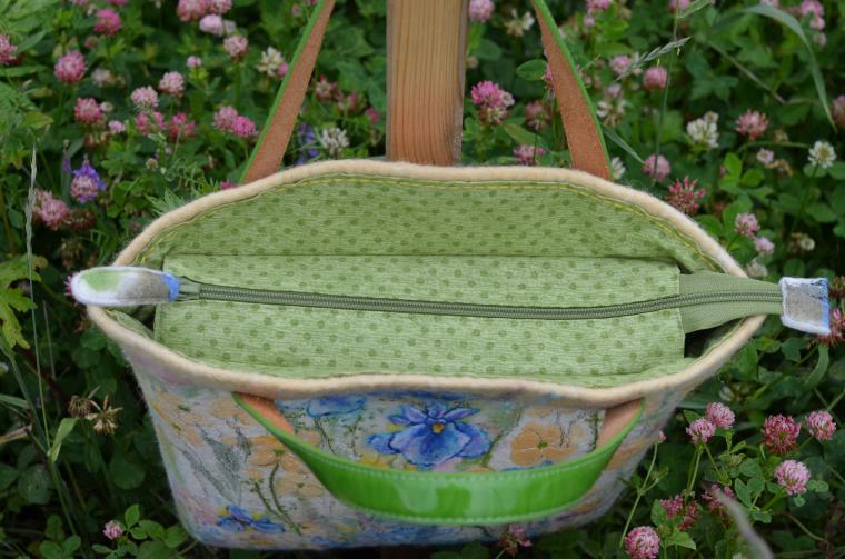 авторская валяная сумка, стиль бохо, шерстяная акварель