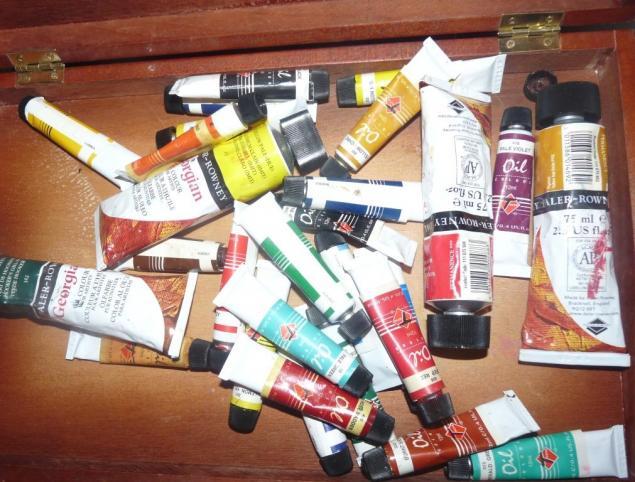 масляная живопись, художник, краски, краска, даром, отдам, бесплатно