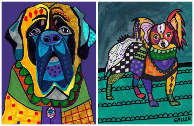 Психоделические собаки Heather Galler: невероятно яркие картины американской художницы, фото № 19