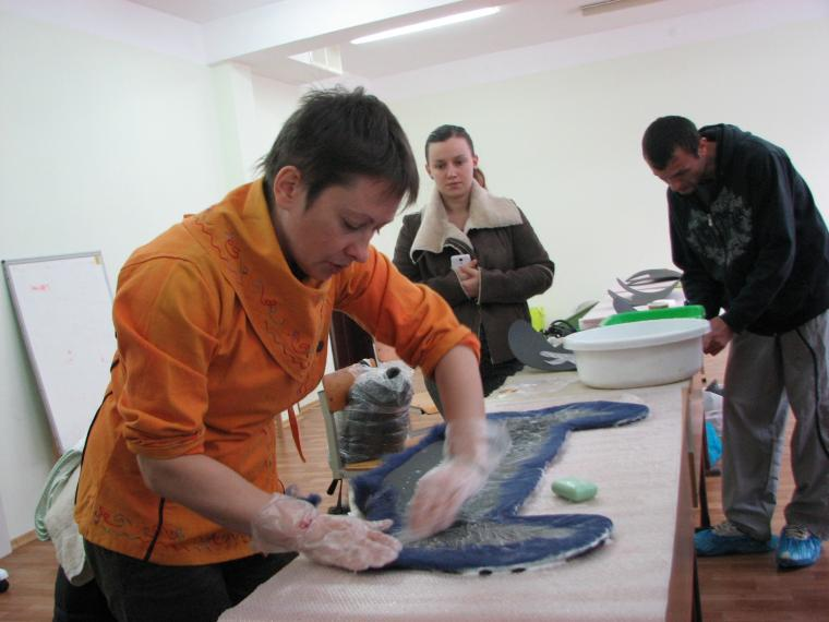 мастер-класс по валянию