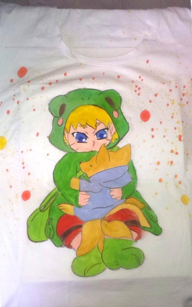 для детей, роспись футболки