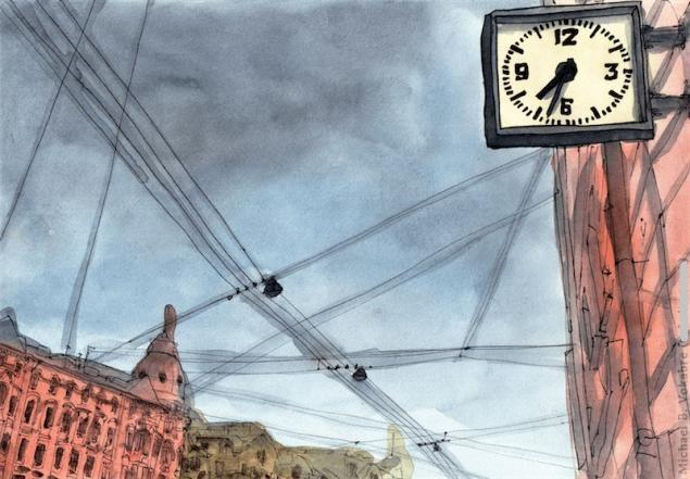 Путешествуем с Михаилом Щербаковым (Vokabre): быстрые зарисовки акварелью, фото № 32