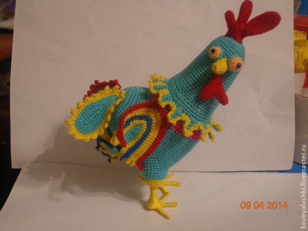 Вязание крючком: петушок