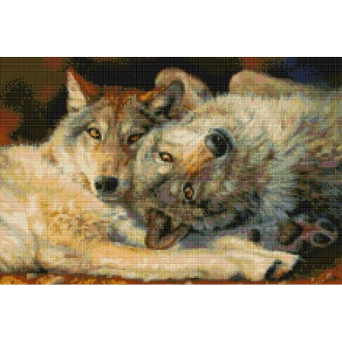 Значения вышивки пара волков