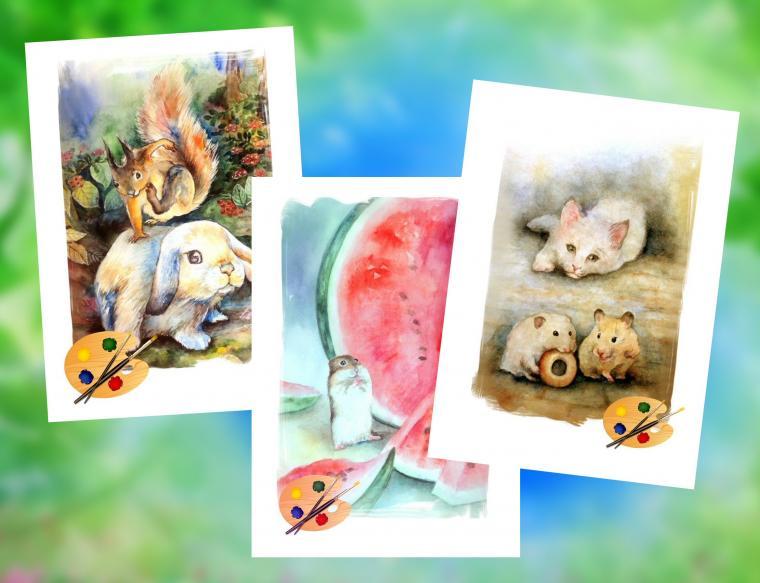 открытки картины