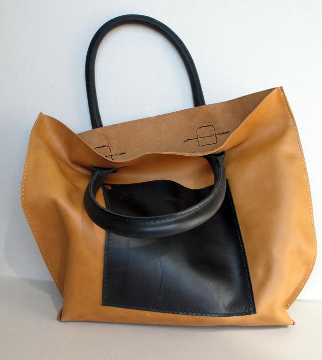 сумка, сумка из ткани, натуральная кожа