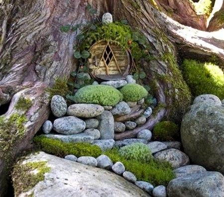 Дизайн сада из камней и дерева