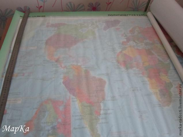 как я шила карту мира