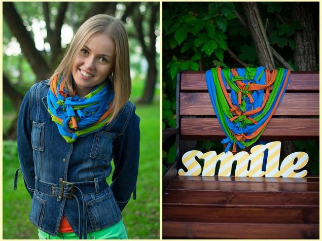 шарф, аксессуары, handmade, яркий, новинки