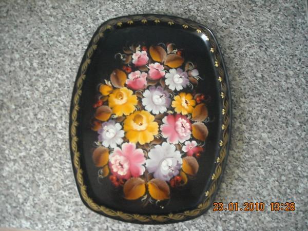 поднос, цветы, колокольчики