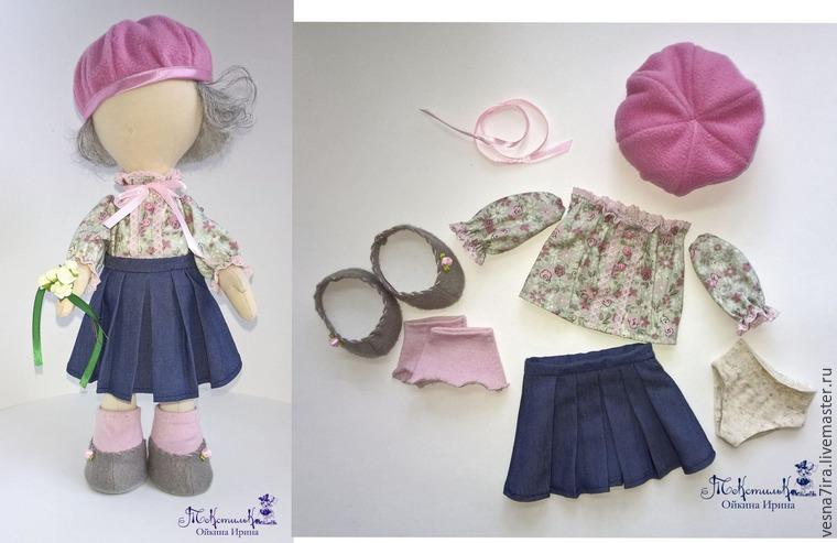 b2aa2fd9135 Будем одевать нашу девочку в комплект одежды из юбочки