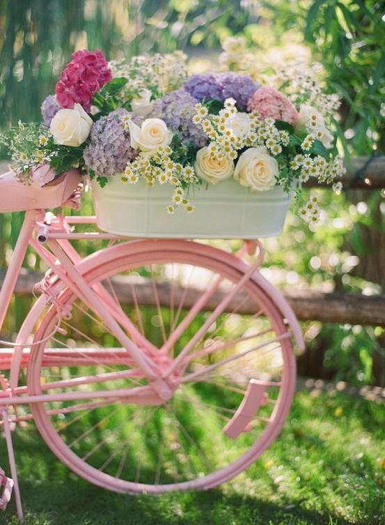 Фото велосипед в цветах