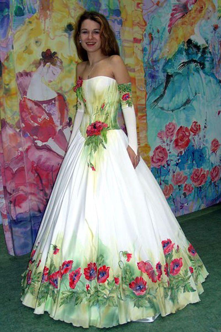 Платье из цветов своими руками фото