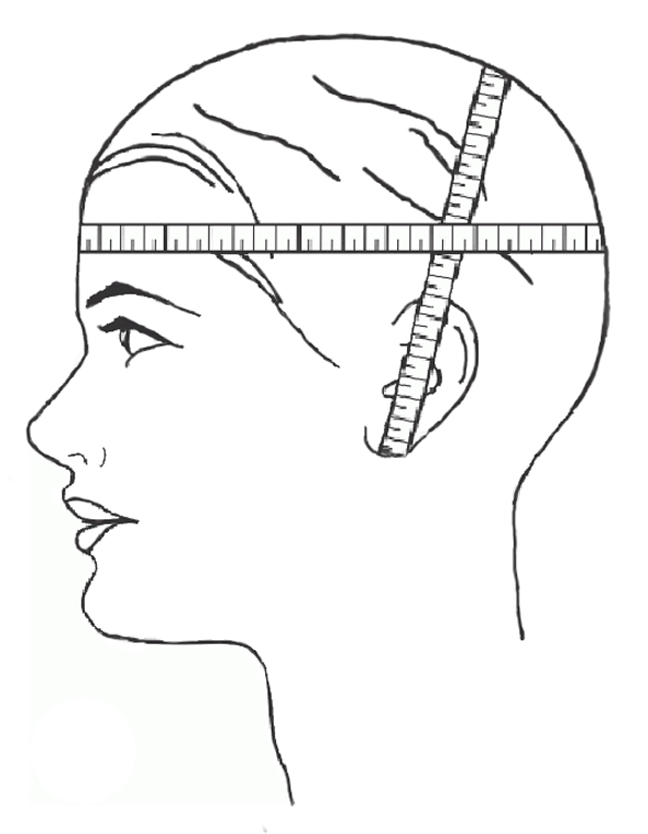 Мерки головы для вязания шапки 71