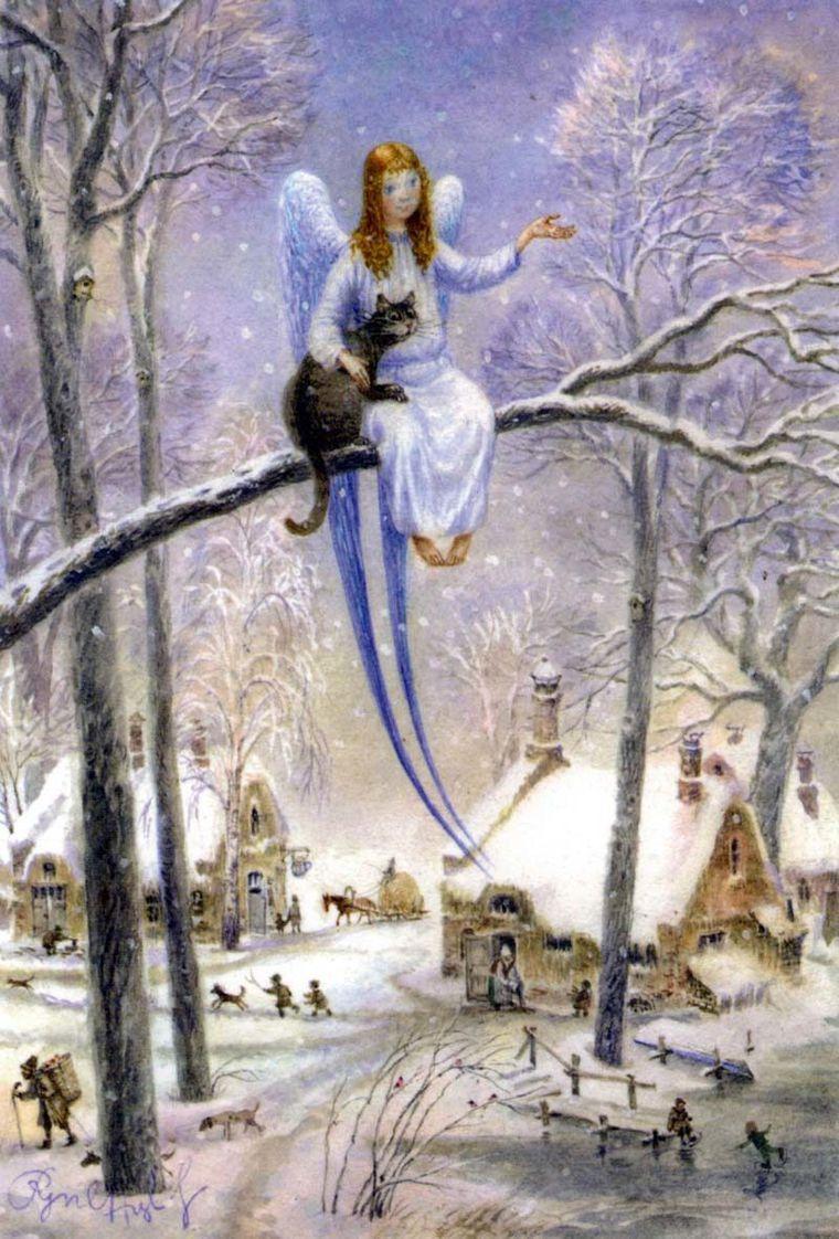кот и ангел, детская сказка, сказка для взрослых