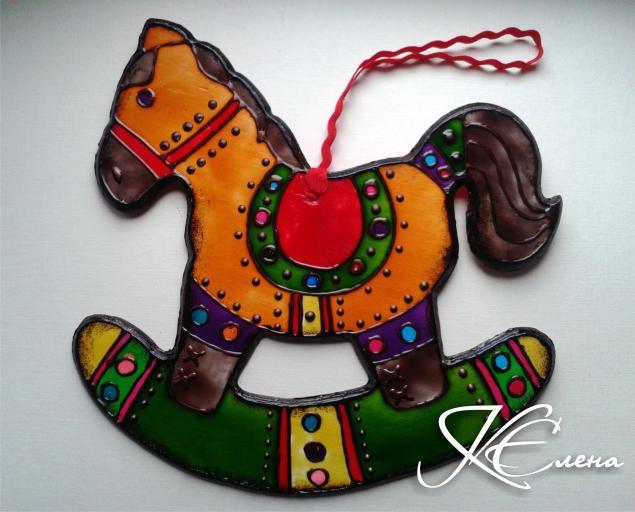 лошадь, новогоднее украшение, декоративные элементы