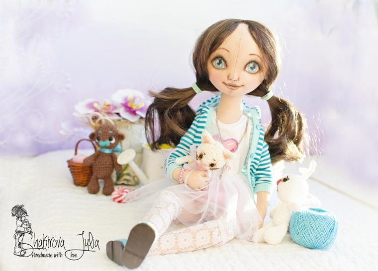 акция магазина, кукла в подарок, авторская кукла