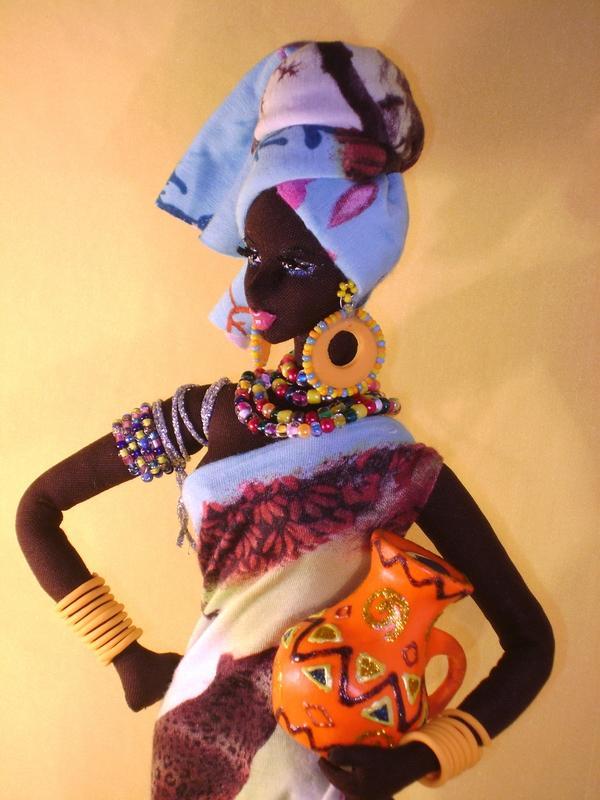 Кукла африканка своими руками