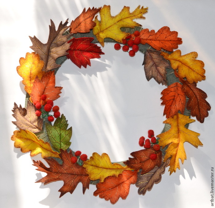 DIY Autumn Wreath Without Felting, фото № 17