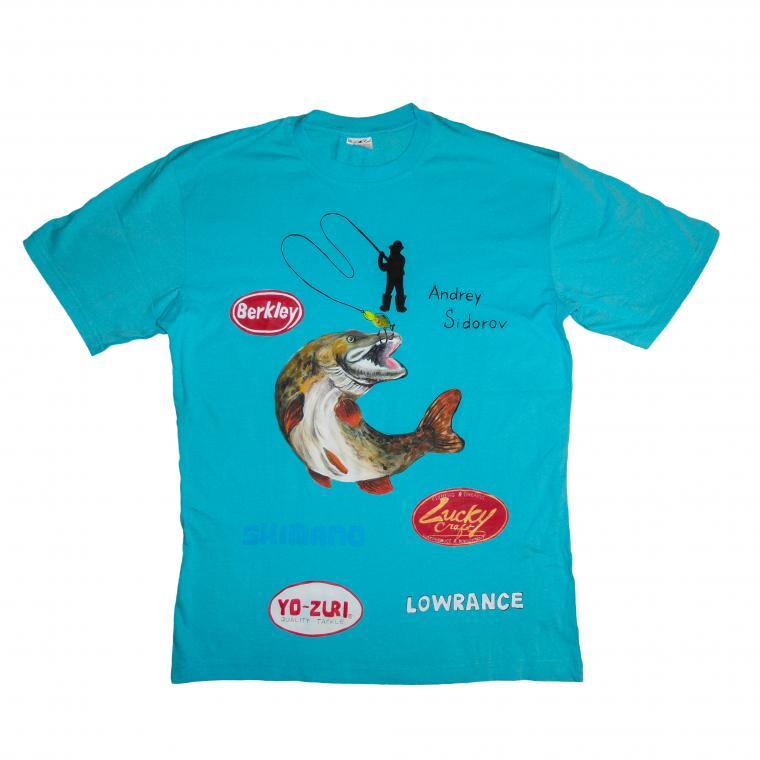 коллекция футболок, футболка для рыболовов, адресный подарок