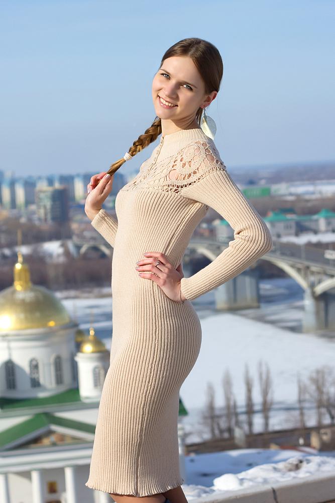 теплое платье, вязание на заказ