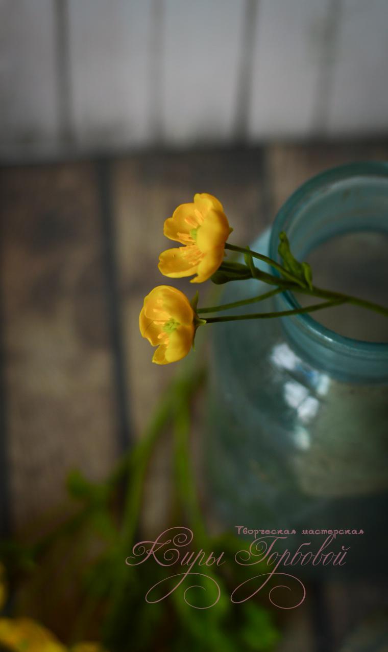 холодный фарфор, modern clay, реалистичные цветы