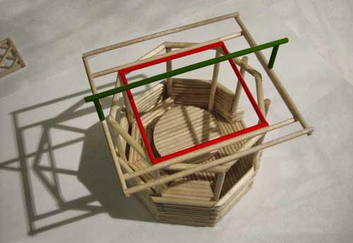 как сделать решетку из палочек