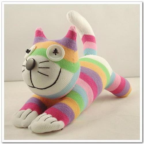 Кота из носка своими руками