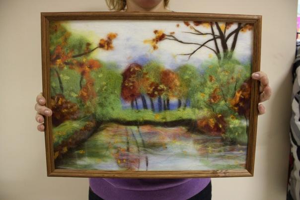 рисование, войлочная акварель, живопись