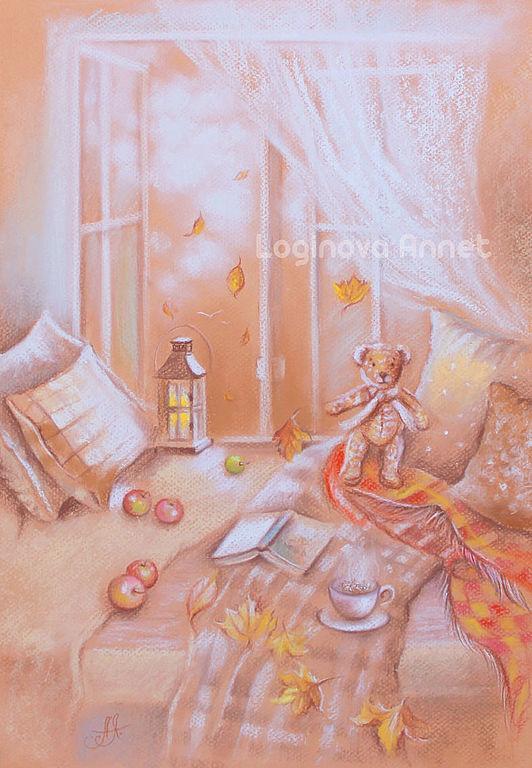 осень, картина осень, пастельная картина