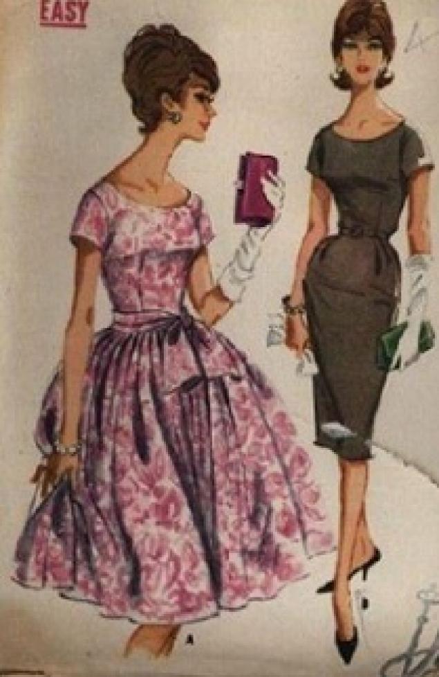 Выкройки платья 50 годов