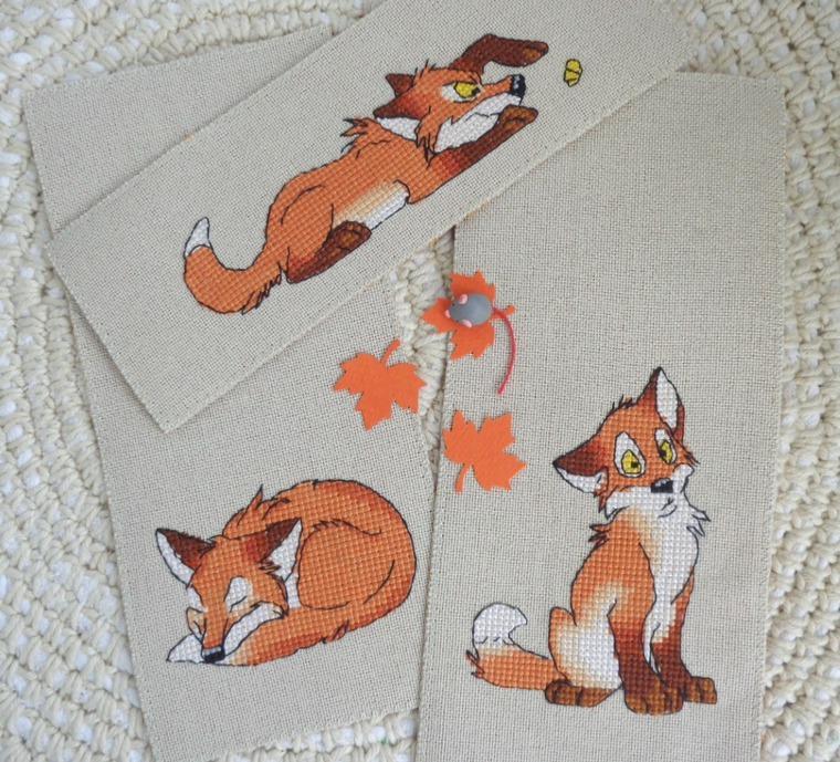 закладки, лисичка