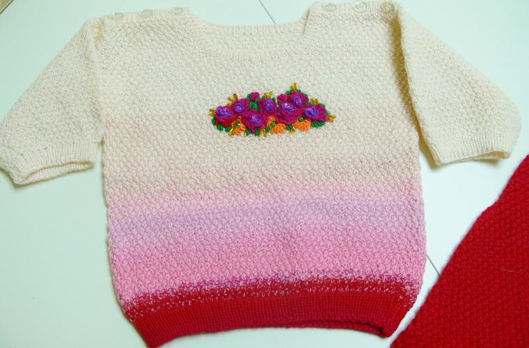 костюм, для малышей, ручное вязание, красивая одежда