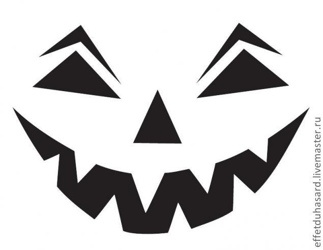 Схемы тыкв на хэллоуин
