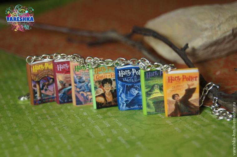 гарри поттер, браслет, волшебство, miniature book, микро