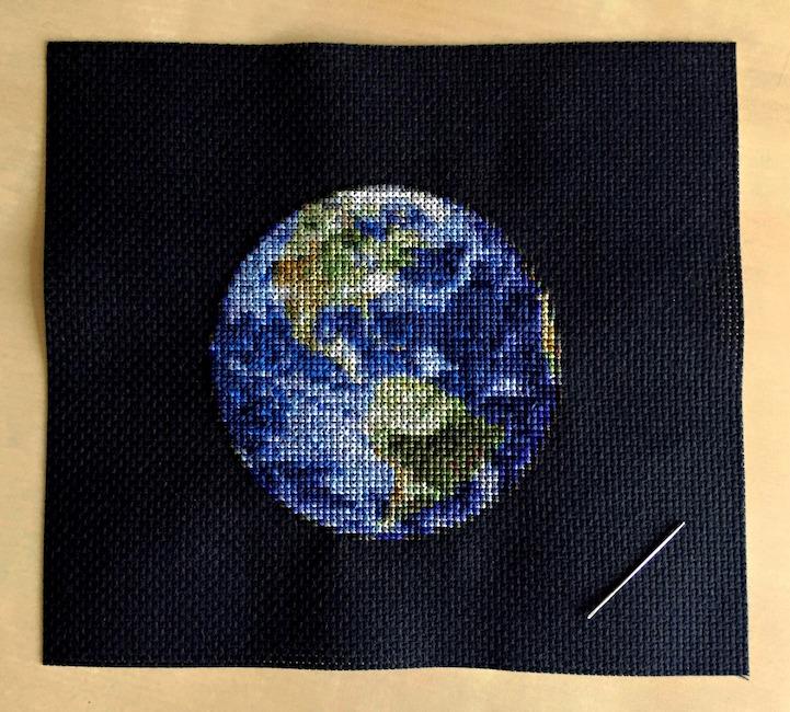 Вышивка крестом схема планет