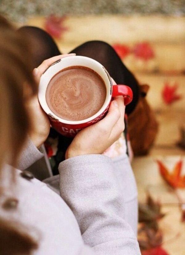 Осень плед книга кофе