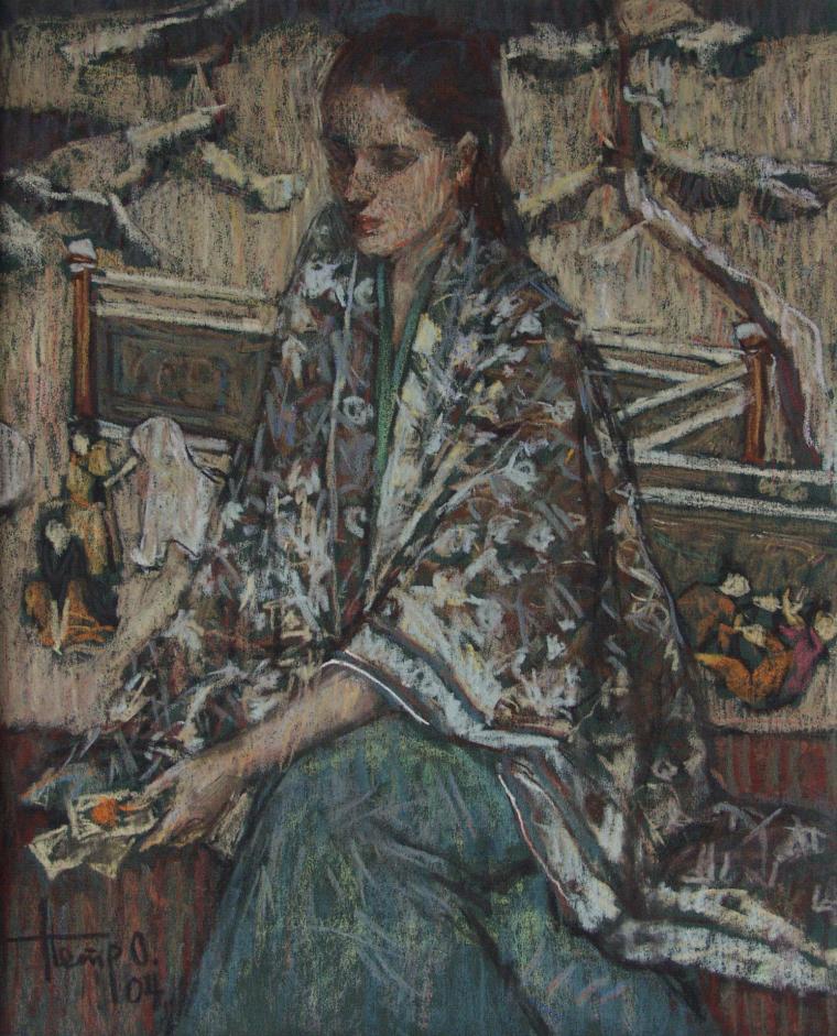 женщина на картине
