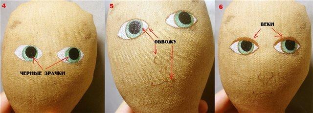 лицо куклы, глаза куклы
