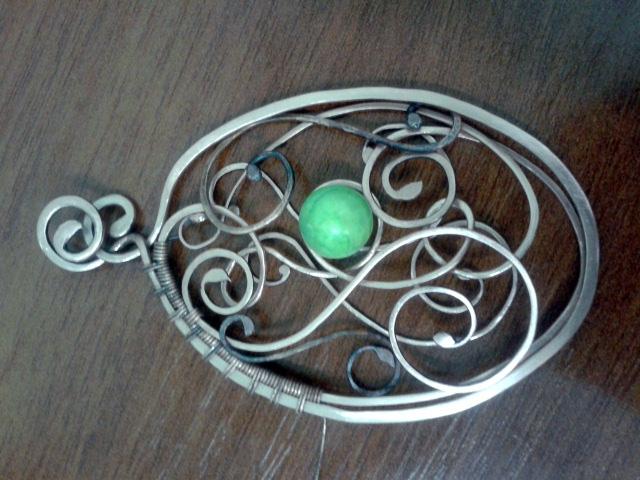 кулон на заказ, wire, медные украшения