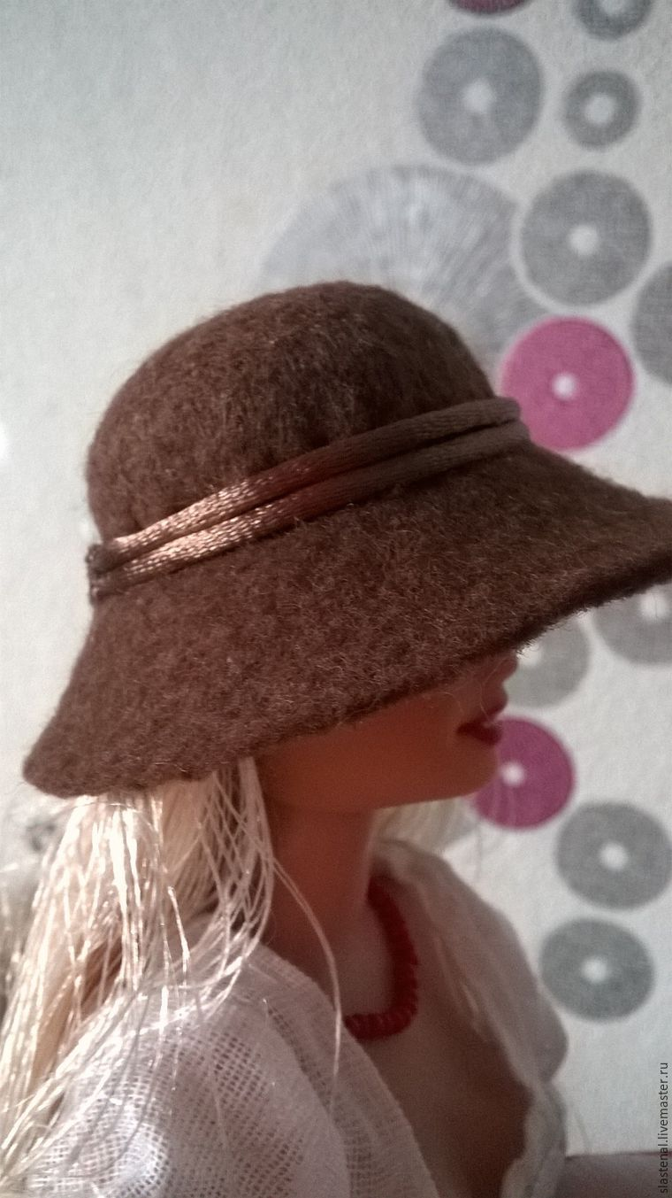 Мастер класс как сделать шляпу из фетра своими руками