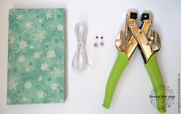 How to fix the elastic on the cover of the notebook with the help of eyelets