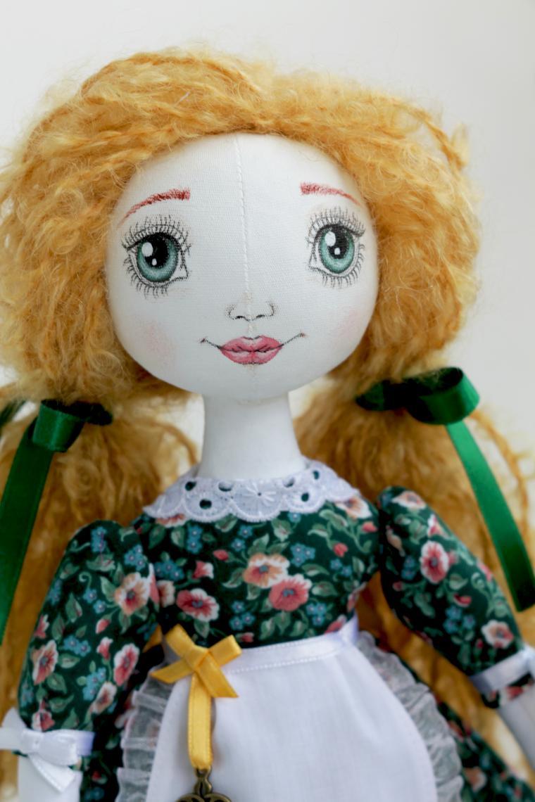 кукла ручной работы, тряпичная кукла, интерьерная кукла