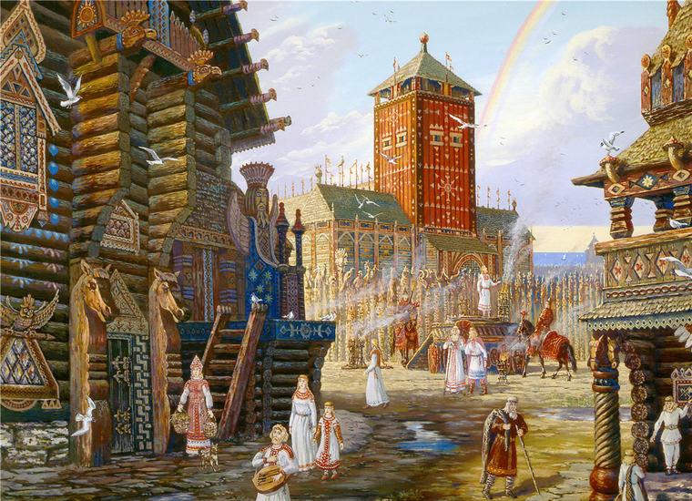 языческий город славян