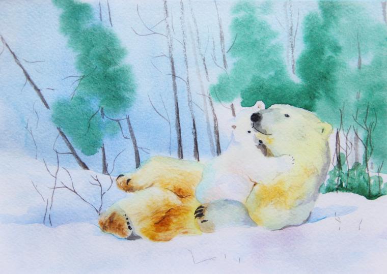 картина для детской, медведь, мама, для интерьера