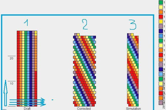 Как читать схему при создании жгута из бисера