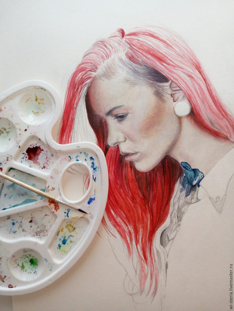 Рисуем акварелью волосы