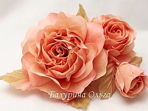 розы, обучение цветоделию, цветы из ткани, цветы из шелка, пвс