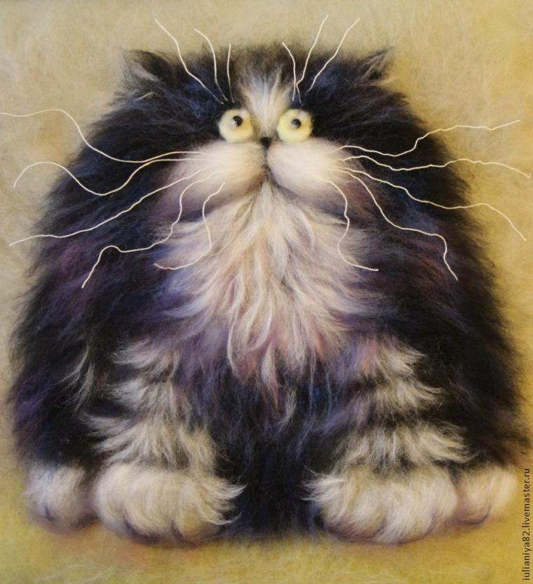 Пушистый котик открытка