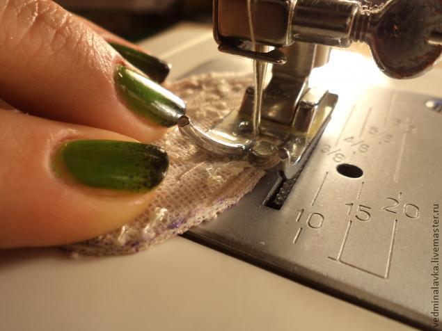 Текстильная брошь-мотылек, фото № 8